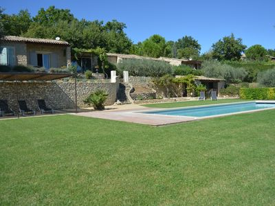 Photo for Gordes peaceful set of superb cottages overlooking the Luberon and heated pool