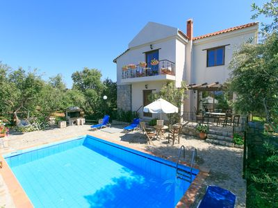 Photo for Villa Tzina: Large Private Pool, Walk to Beach, A/C, WiFi, Car Not Required