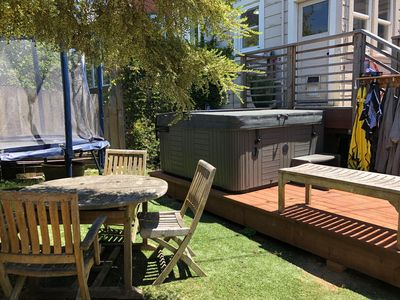 Photo for Beautiful 3BR Family Home in the ❤️ of SF ⭐️ Backyard BBQ ⭐️ Foosball! ⭐️ Hot Tub! ⭐️ Parking! ⭐️