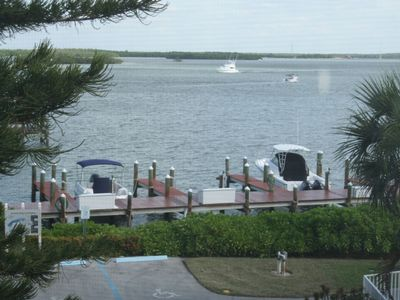 Water view with boat slips