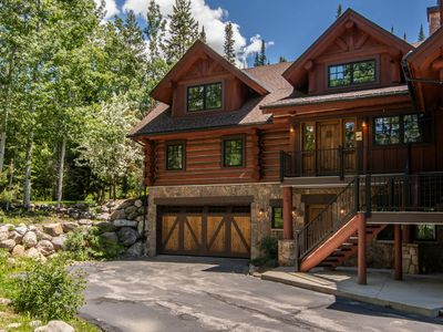 Photo for Sticks & Stones Lodge | Mtn Luxe | Forest Backdrop | Private Deck & Hot Tub