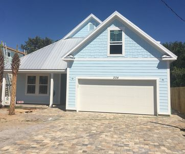 Photo for New Coastal Craftsman Beach House with Private Pool one block from the Beach.