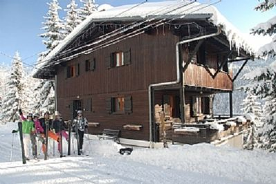 Chalet Penote in the Ski Season - skiing from the front door in high season!
