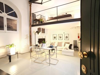 Photo for Stylish split level Loft-private terrace - Colosseum