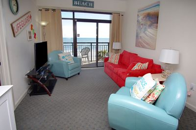 Enjoy lovely ocean front views from your living room.