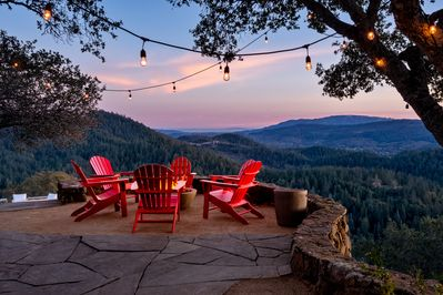 Fire Pit Over Looking Sonoma Valley