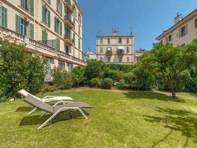 Photo for Cannes Center Spacious 3 Bedroom Apartment with Garden