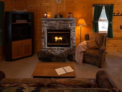 Photo for Cabin w/ WiFi, Fireplace, Resort Hot Tub, Sauna, Gameroom, Golf & Ski Rentals