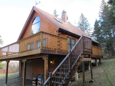 Photo for Great log cabin in the Overlook, with shared access to Rangeley Lake