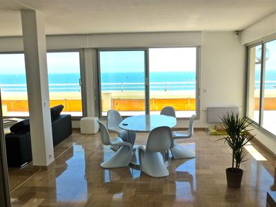 Photo for Very nice apartment of 120 m2 terrace of 60 m2 seafront