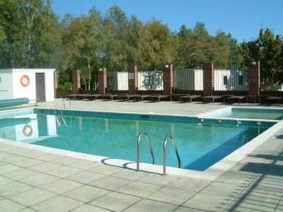 The outdoor heated pool (May to end Sept)