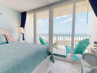 Photo for Stunning Views in this Beautifully Decorated Beachfront Studio with Private Balcony & Heated Pool
