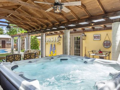 Photo for Absolutely Charming Oasis Retreat, 3/3 Beautiful Cottage, Pool and Hot Tub!