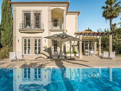 Photo for Contemporary villa w/ heated pool, free W-Fi, Satellite TV & DVD player