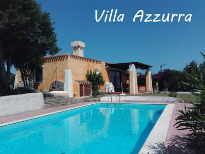 Photo for LITTLE VILLA WITH PRIVATE POOL AND GARDEN.IT ACCOMODATES  CONFORTABLY 4 PEOPLE