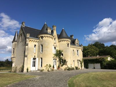 Photo for Enchanting 19th Century Fairy-tale Castle Located Among Vines Close to Bordeaux