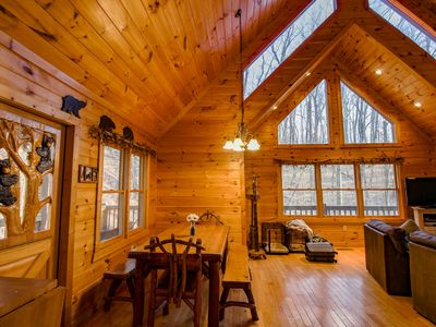 Photo for Black Bear Lodge - First Class Mtn Top Cabin w/Hot Tub and Fantastic Views!