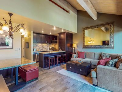 Photo for NEW LISTING! Ski-in/out condo w/shared pool, tennis, gym & more - golf nearby!