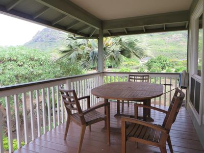 Upstairs Lanai for relaxation or outdoor dining