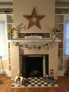 Living Room Fireplace (for ambiance- not functional)