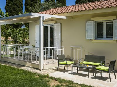 Photo for One bedroom Villa (sleeps 4) with private garden in Svoronata.
