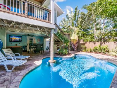 Ocean's 77: Private Heated Pool, Outdoor Living Area, Only 5 Houses to the Gulf!