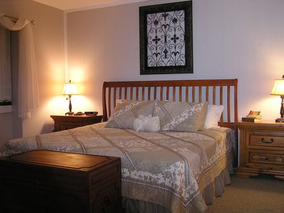 King Size Master Bedroom, with TV.