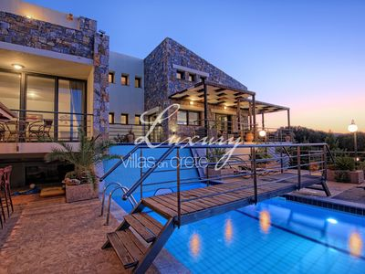 Photo for Luxury Villa Lofos with Private Pool, Amazing Sea View, Sisi, Crete