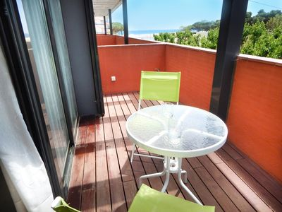 Photo for Ideal apartment for families with pool, children's play area and 1st line sea!