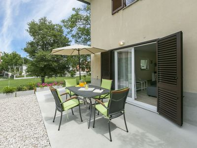 Photo for Modern apartment with terrace near seaside resort Rabac and the medieval Labin
