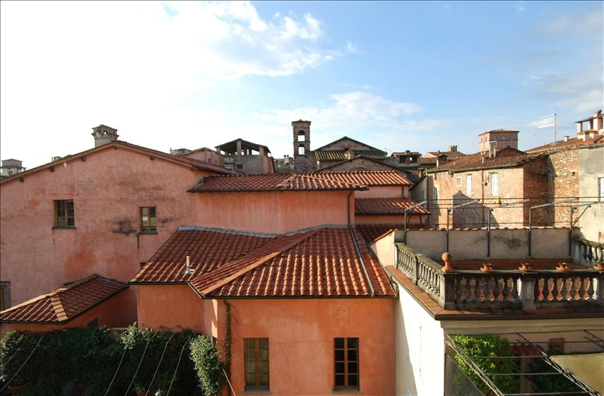 Lucca apartment rental view from sun room