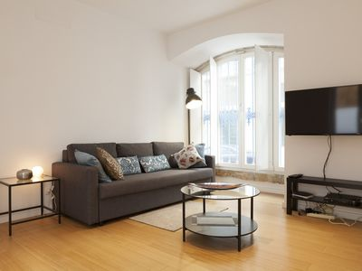 Photo for 2 room apartment in the heart of Lisboa Downtown with terrace