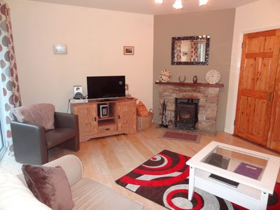 Plenty of room in the lounge with open fire, TV and wifi available