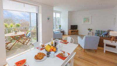 Photo for Stunning, sleeps 4, modern 1st floor apt.  With fantastic views from balcony.  With Wifi & Parking