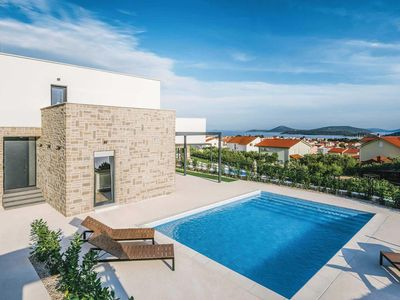 Photo for 4 bedroom Villa, sleeps 8 in Tribunj with Pool, Air Con and WiFi
