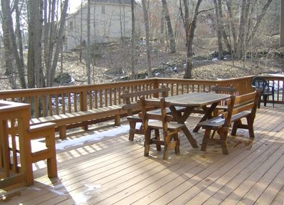 Our back deck viewed from the dining room