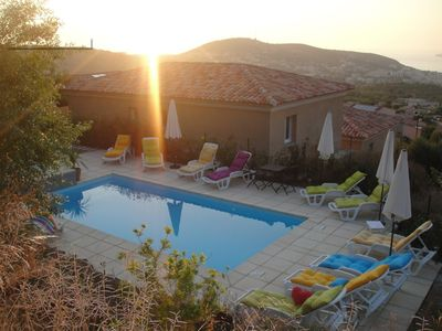 Photo for Beautiful villa with pool access