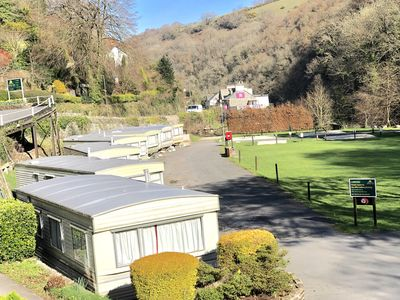 Photo for One bed static with parking. Walk to Lynton Town Centre. Free fishing onsite