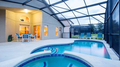 Photo for Stay closer to Disney in this 4 bed family pool home in Emerald Island Resort