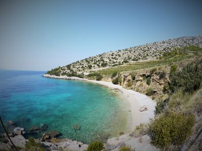 Photo for Cliff-top Two Bedroom Beachfront Old Stone Villa Among Vineyards!