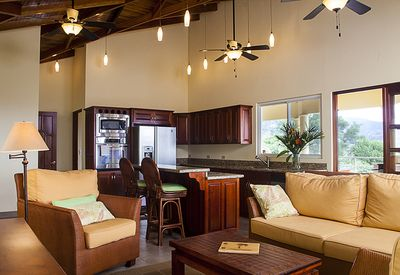 Relax in the living room as the Costa Rican sun seeps in through the windows.
