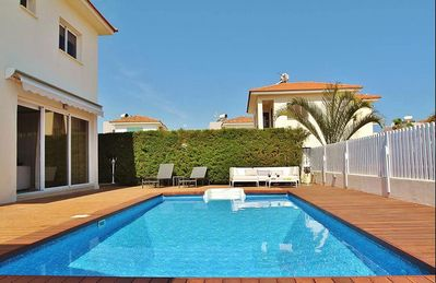 Photo for Lovely Two Storey Villa with A/C, Private Pool in a quiet Location only 850 m to the Beach!
