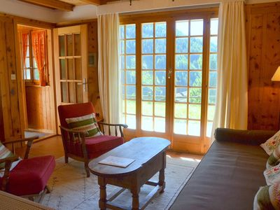 Photo for Outside : chalet for 4 persons, ground floor with garden and garden furniture, balcony -Inside : 80
