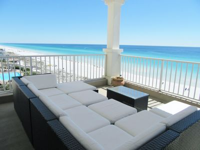 Photo for BEAUTIFUL GULF FRONT w Huge Balcony & Amazing View 6th Floor Unit 605 at The Inn