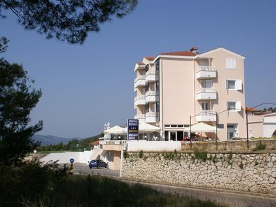Photo for One bedroom apartment with balcony and sea view Seget Vranjica, Trogir (A-3079-c)