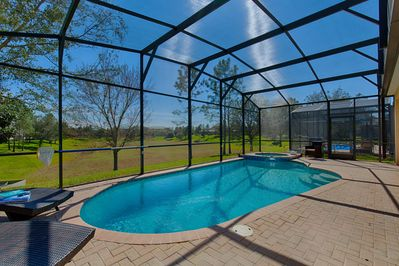 We have one of the few truly south-facing pools - with no rear neighbors!