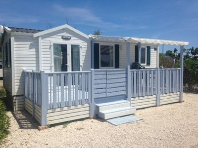 Photo for Mobile Home located in front of sea between sète and marseillan