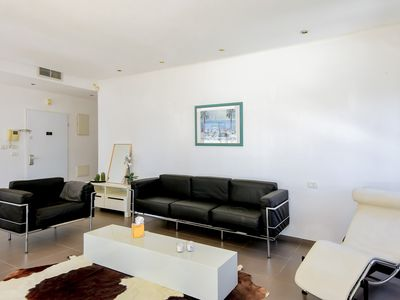 Photo for 3 Bedrooms (Penthouse near beach with parking) Apartment - 15 Geula Street.