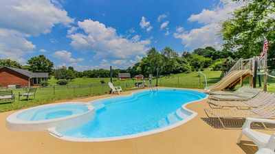 Photo for Large private House.Sleep 16. POOL! HOT TUB! Minutes from everything!!!  $ave!!