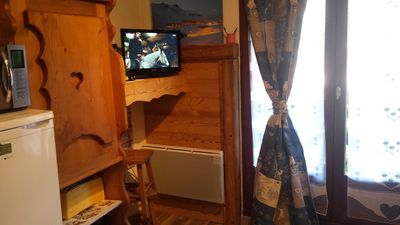 Photo for furnished studio style mountain 18 m2 bourg st maurice